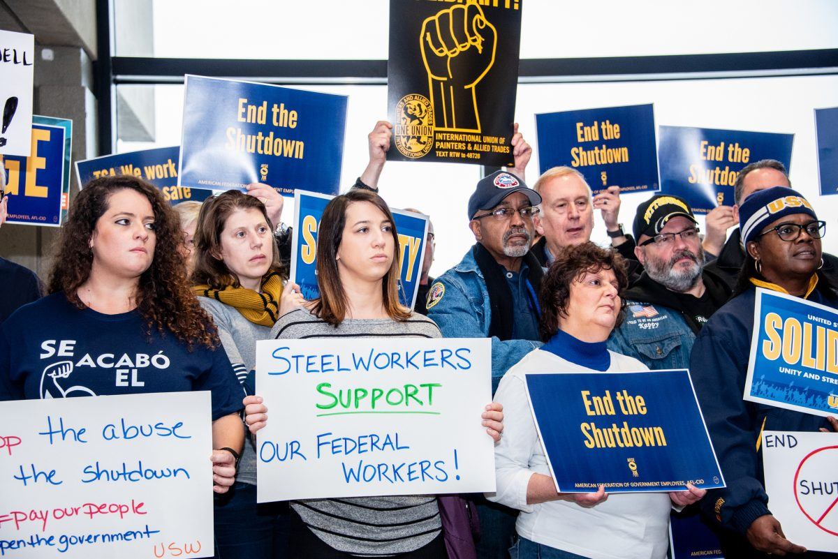 Federal Workers Rally to End Shutdown