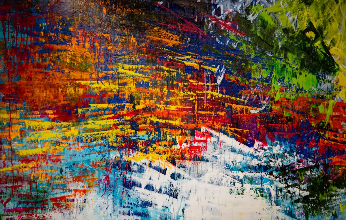 Colorful Art of 'White Noise' Joins Artwork on Display