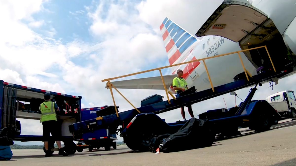 VIDEO: Luggage Takes a Long Haul Through PIT