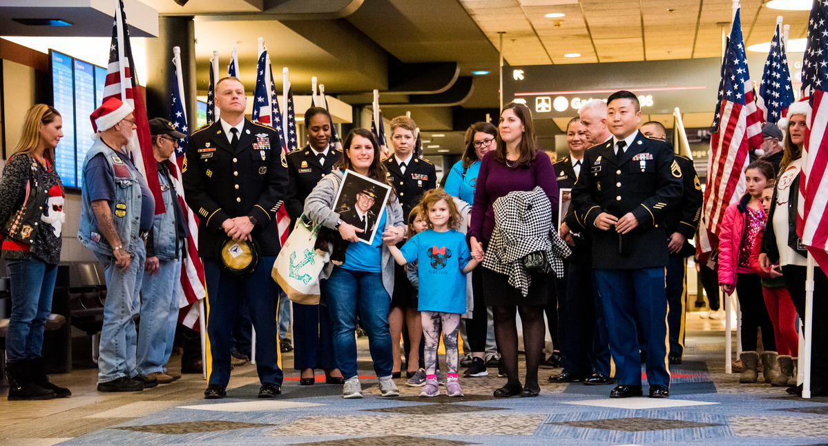 From Airports Across U.S., Gold Star Families Board the Snowball Express
