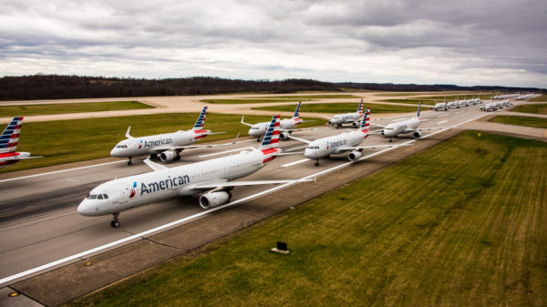Parked Planes Stack Up at U.S. Airports
