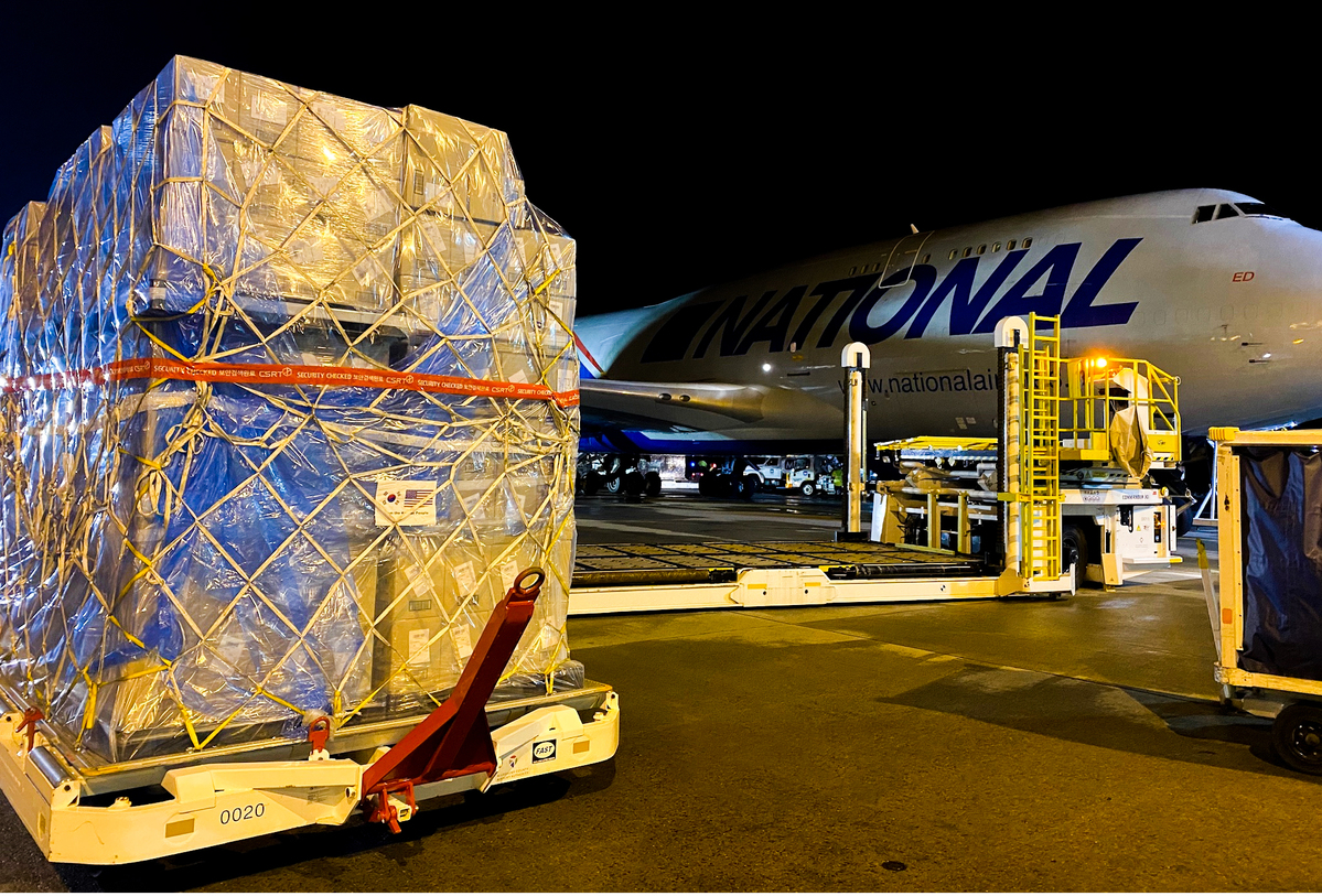 Two Million Masks Arrive at PIT Headed for FEMA