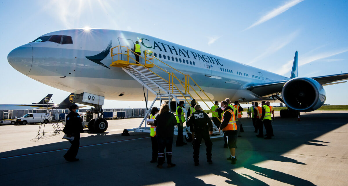 PIT Welcomes First Cargo Flight from Cathay Pacific
