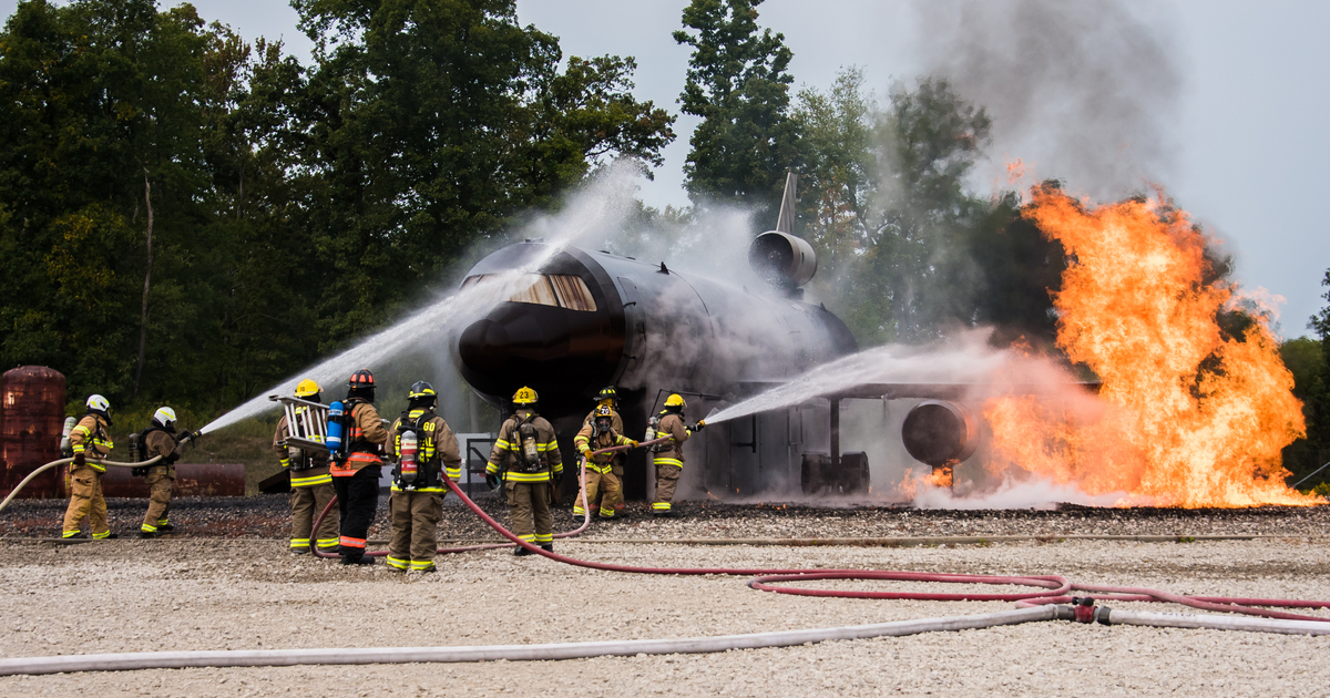 For Airport Firefighters, Training Never Stops