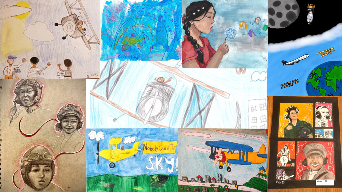 Contest Adds Children's Aviation-Inspired Art to Terminals